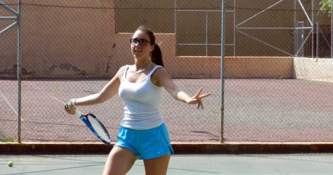 Campamento de tenis en inglés